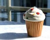 SALE: Ceramic Cupcake Trinket Box Container Home Decor