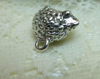 Hedgehog Charm Tibetan Silver Hedgehog Pendant Charm Embellishment Hedgehog lover  13 x 15mm Quantity 1