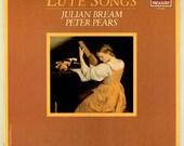 Renaissance Lute Songs Played by Julian Bream, Peter Pears, London Records Treasury Series Dowland Rosseter Morley Campian Vintage Vinyl LP