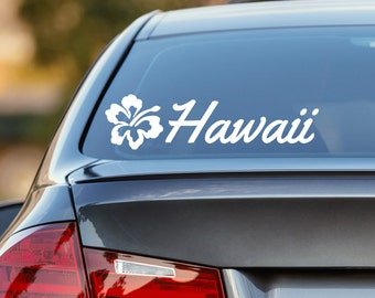 Hawaii Decal, Hibiscus Decal, Hawaii Car Decal, Hawaiian Flower Decal, Hawaii, Laptop Sticker, Laptop Decal, Vinyl Decal, Window Sticker