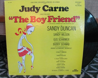 """Vintage 60's """"Judy Carne in The Boy Friend A Musical Comedy of the Roaring 20's"""" Original Broadway Cast Vinyl Record Album - 1960 - Musical"""