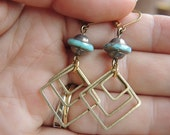 earrings with squares