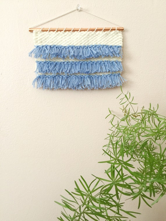 Woven Leaves Wall Decor : Small weaving woven wall hanging textile art