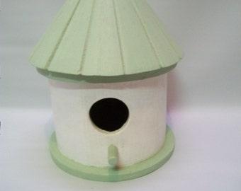 Craft Supplies, Wood Bird House, Painted Wood Bird House, Round Bird House, Home and living, Home and Garden,