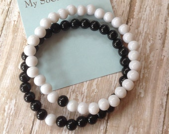 Matching Bracelet Set-Couples Bracelet Set-Best Friends-Boyfriend/Girlfriend-Husband/Wife-Missing Piece-You Complete Me-Ying and Yang