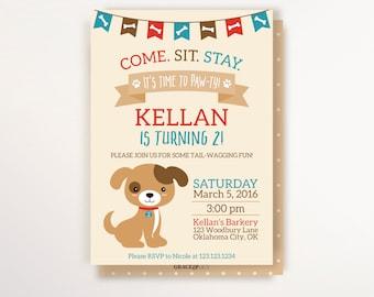 Puppy Birthday Invitation - Puppy Party Theme - Printable Invitation