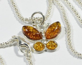 Baltic Amber Necklace Baltic Amber Jewelry Sterling Silver Amber Necklace