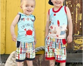 Tide Pool Tank PDF Pattern: Boys Tank Pattern, Tank Top Pattern, Girls Tank Pattern, Hooded Tank Pattern