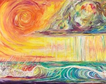 Warm Summer Rain, 13x19 Fine Art Print