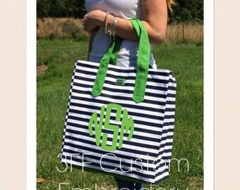 Personalized Monogrammed Large AME & LULU Beach Bag