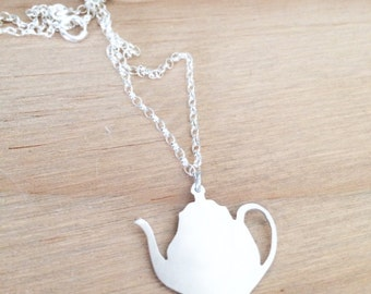 Teapot necklace,  teapot pendant, mad hatter tea party, quirky jewelry