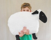 Fluffy Sheep Pillow - One large puffy sheep for a kid's room or baby nursery