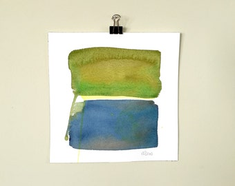 Color Field 4.  A signed original watercolor painting.