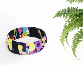 Tropical recycled purple bangle