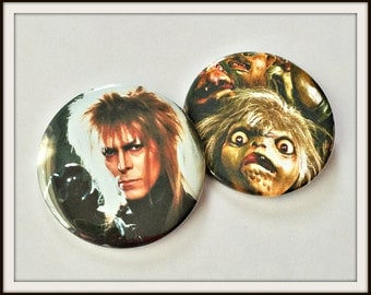 "Labyrinth  - Choose a Large 2 1/4"" Pin Back Button Or Bottle Opener Keychain"