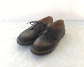 RESERVED///90s Brown Leather Doc Martens Womens 7 UK 5 EUR 38 Dr Marten