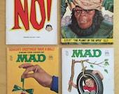 MAD MAGAZINE 1970, 1971, 1973 four issues 1970s humor magazine