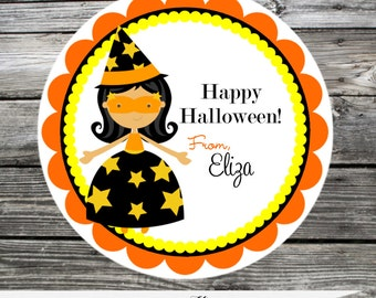 Halloween Witch Tag, Halloween Sticker, Halloween Party, Holiday, Halloween Treats, Favor Tags, Witch, Halloween Birthday, Witch Sticker