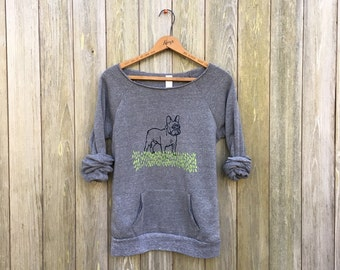 pant...pant...pant...LETS PLAY French Bulldog Sweatshirt, Dog Sweater, Frenchie Clothing, S,M,L,XL,2XL
