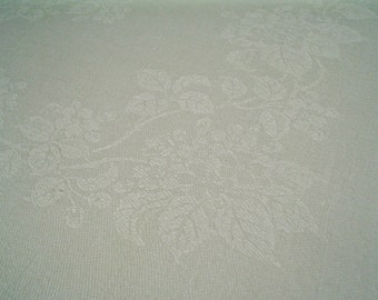 Vintage Linen Damask Napkins with Monogram and Violet Bunches Set of Six
