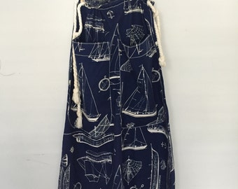 Unique Nautical SeaWoman Skirt with Jumbo Pockets / size Small - Large