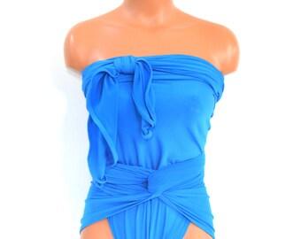 Bathing Suit XL Light Blue Wrap Around Swimsuit One Wrap Plus Size Swimwear One Piece Swimsuit High Waisted Bikini Plus Size hisOpal