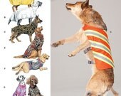 Simplicity Pattern 1578 Large Dog Clothes, Jackets and Ponchos One Size : 30-46 Lbs. NEW