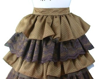CUSTOM Bustle Skirt for Burlesque or Steampunk Victorian- match your outfit!
