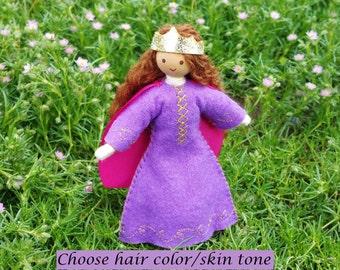 Princess Doll - Dollhouse Castle - Bendy Doll - Waldorf Castle - Princess -
