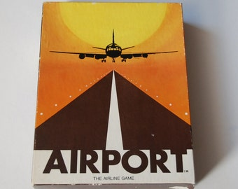 Game0128 Airport, the Airline Game by Dynamic Games 1972
