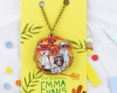 Fantastic Mr Fox, Wes Anderson- Wild Animals - 20cm Bronze / Wooden Necklace.