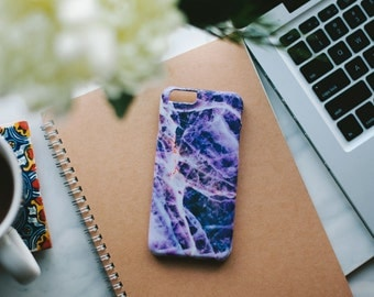 iPhone 6 Case Marble - Purple Marble iPhone Case - iPhone 6 case - Hard Plastic, Slim Fit