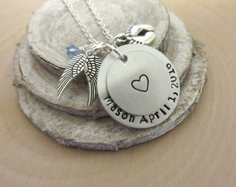 Infant Loss Necklace, Memorial Jewelry, Memorial Keepsake, Miscarriage, Child Loss, Memorial, Baby Loss, Personalized Jewelry, In memory of