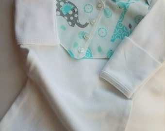 Newborn Baby boy Coming home Layette gown