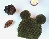 GLACIER HAT / Chunky Crochet Kids Hat / Crochet Pom-Pom Hat / Infant Toddler Hat