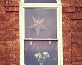 Starfish, Flowers, Windows, Photography Print, 6x9 + More Sizes, Brick Wall, Arches, Bouquet, Home Decor, Wall Art, Urban