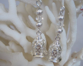 Petite and Feminine Influenced Silver Bell Earrings