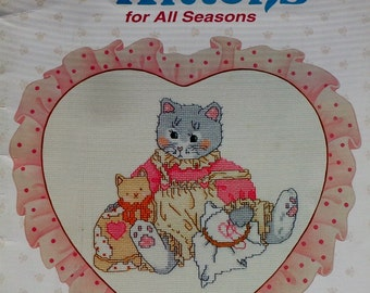 Priscilla Hillman CALICO KITTENS For All SEASONS Designs By Gloria & Pat (Multiple Designs)  - Counted Cross Stitch Pattern Chart Booklet