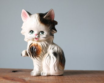 Ceramic Cat Figurine from Japan