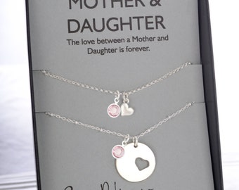 Mother daughter jewelry mother of the bride gift for mom breast cancer awareness mom necklace mother daughter cancer survivor breast cancer gift loss of mother remembrance aloadofball Image collections