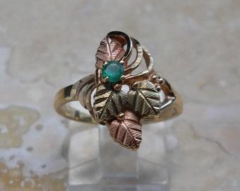 Vintage 10K Black Hills Gold Ring by Coleman Co.