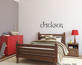 Boys Name Wall Decal, Kids Wall Decal, Name Wall Decal, Monogram Name Decal, Nursery Wall Decal, Vinyl Lettering, Vinyl Wall Art