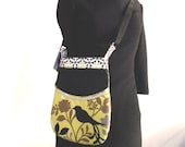 Bird Pattern Small Shoulder Bag
