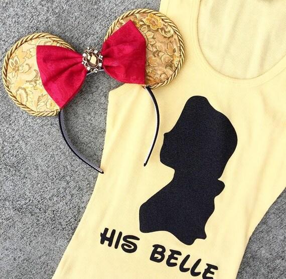 NEW Belle Ears & Tank - Beauty and the Beast, Belle Princess dress-up costume WDW, child woman girl, headband Disneyland, Disney