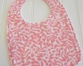 CLEARANCE/SWEET NATURALS/Organic Line/Baby Bib/Infant--18 mo./Branch in Pink/Organic Flannel