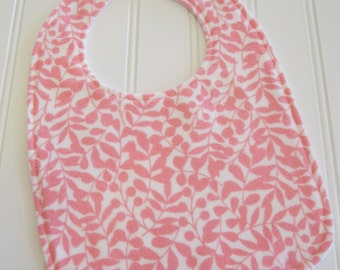 SWEET NATURALS/Organic Line/Baby Bib/Infant--18 mo./Branch in Pink/Organic Flannel