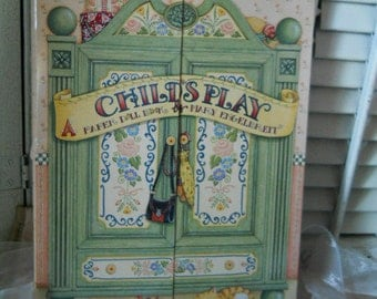 Child's Play Paper Cutouts By Mary Engelbreit With Armoire Wardrobe Storage Book Vintage Cutouts Paper Dolls