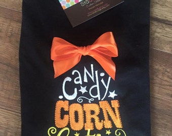 Personalized Applique Fall Candy Corn Cutie Long/Short sleeve onesie or tshirt
