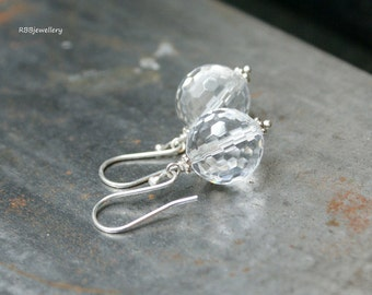 Crystal Quartz Sterling Silver Dangle Earrings