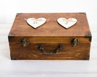 Rustic Wedding Card Box Holder Wooden Keepsake Box Wooden Chest Personalized Wedding Card Box Customisable Card Box Memory box Wedding cards